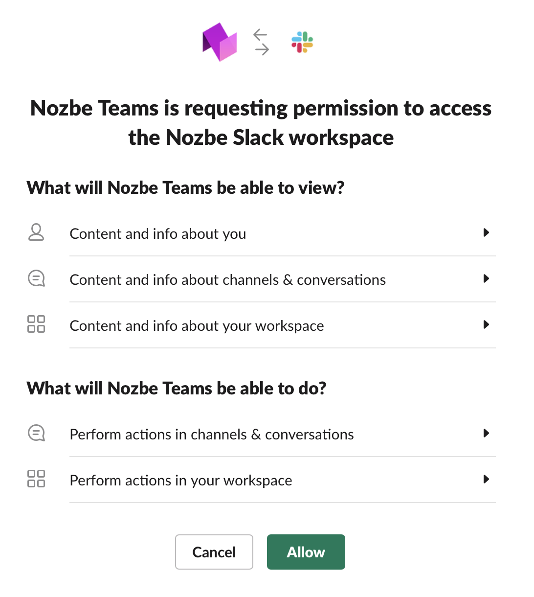 Connect with Slack
